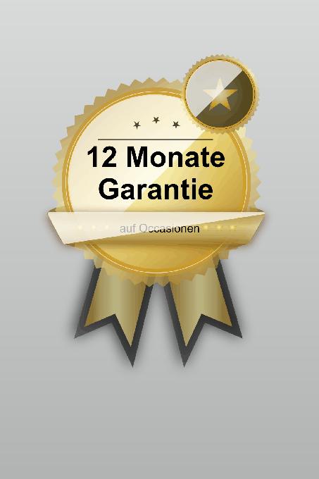 Unser Garantielabel für 12 Monate Garantie bei Occasionen